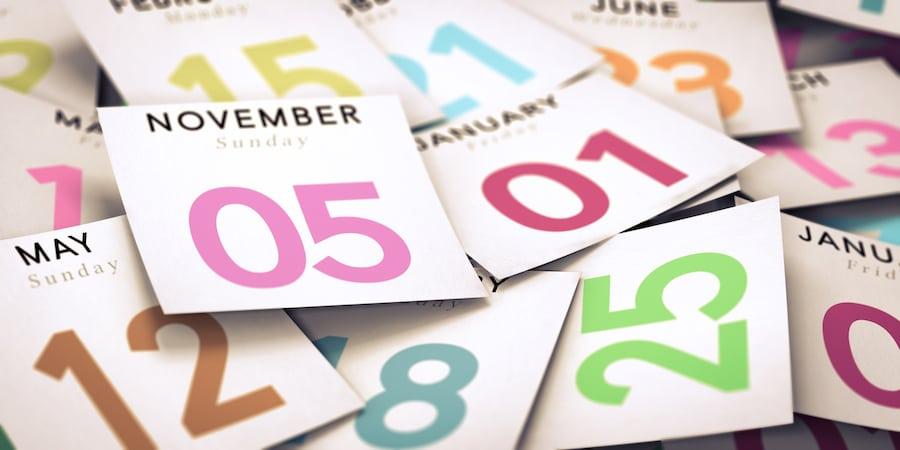 calendrier numérologique