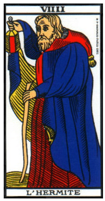 carte tarot l'hermite