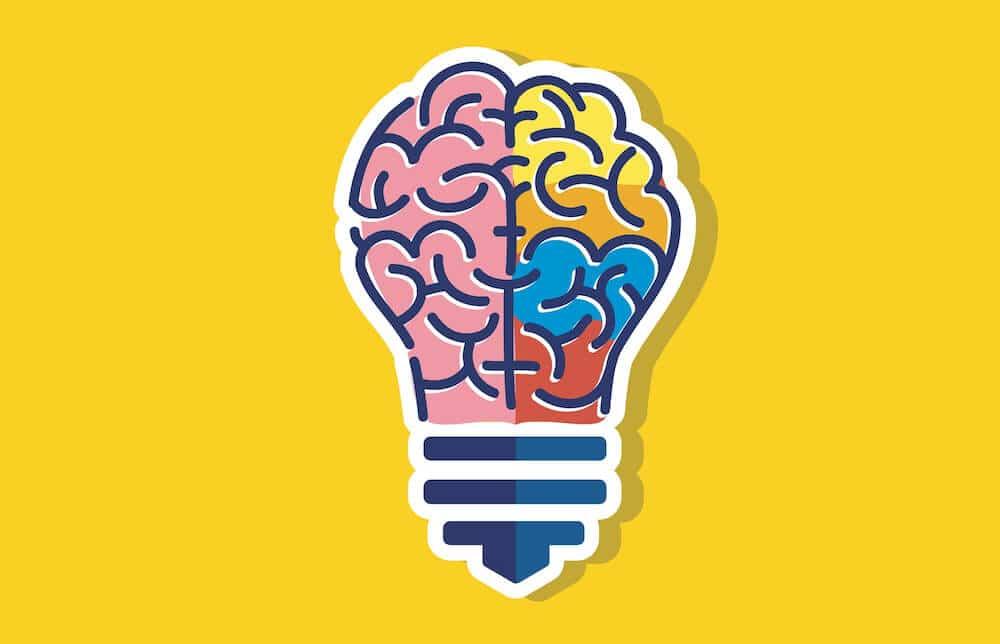 ampoule representant un cerveau
