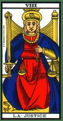 carte tarot la justice
