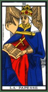 carte tarot la papesse