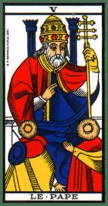carte tarot le pape