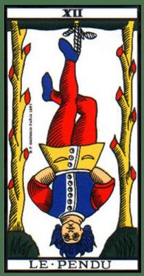 carte tarot le pendu
