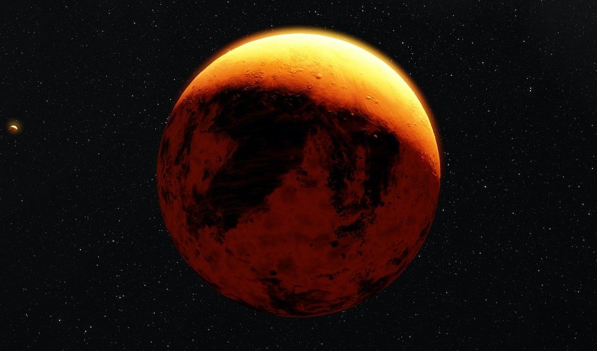 La planète Mercure dans un ciel étoilé