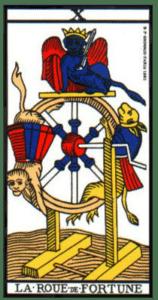 carte tarot roue de la fortune