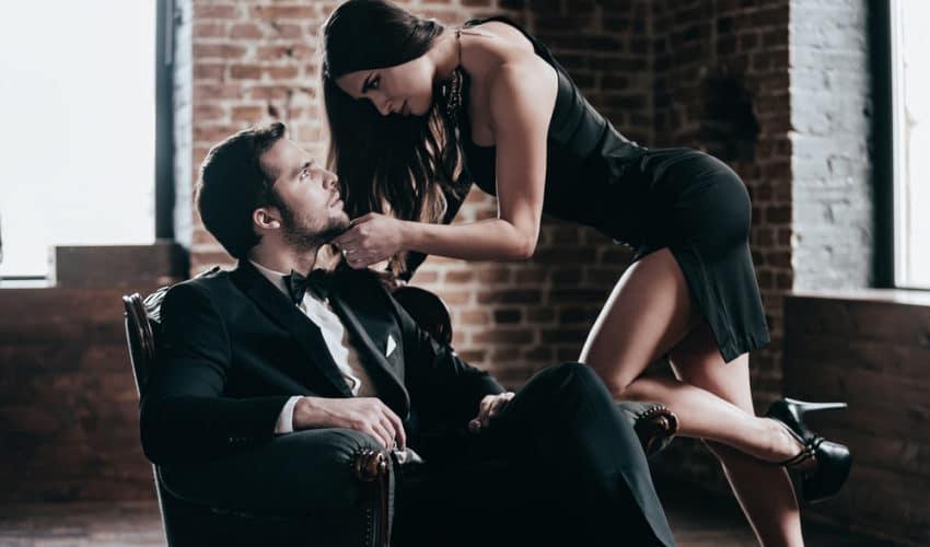 femme qui seduit un homme