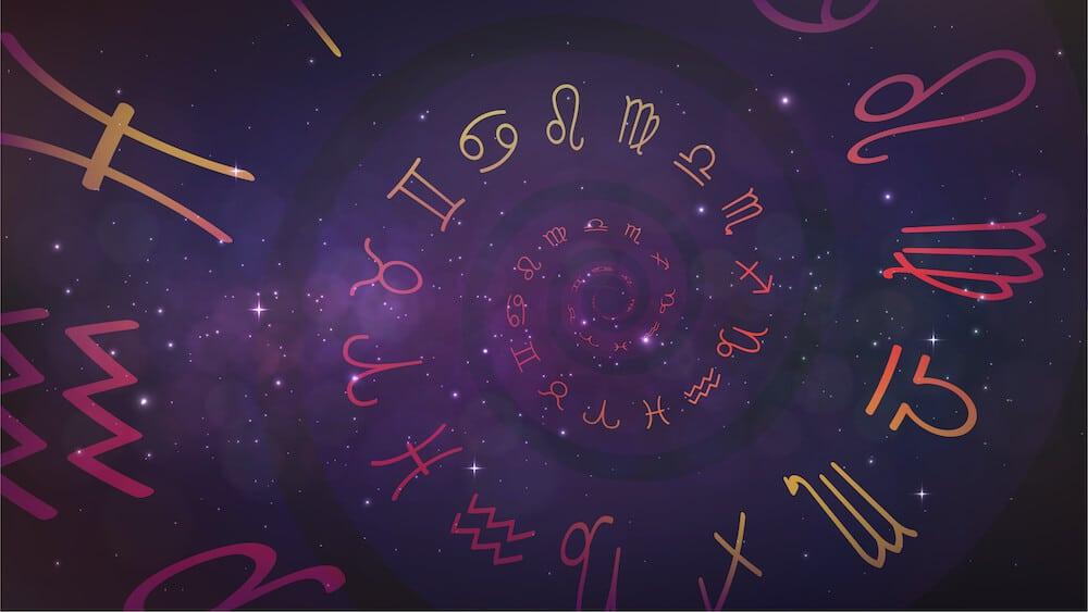 signe du zodiaque dans l'espace