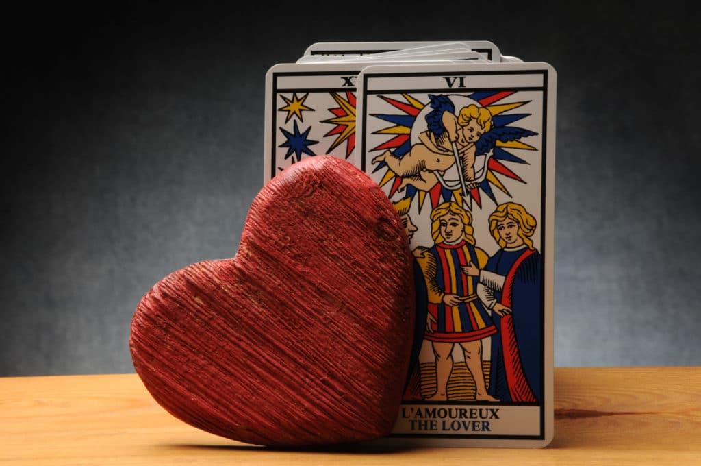 jeu de carte tarot de l'amour