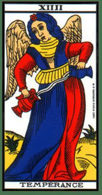 carte tarot la temperance